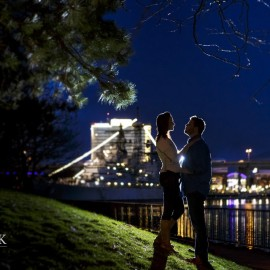 Justin & Kristen | Engagement Photos Canalside Buffalo NY
