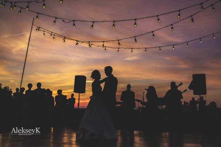 Buffalo Wedding Photographer First Dance at Sunset