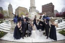 Niagara Square bridal party Wedding Photos
