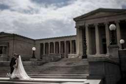 Wedding Couple Photos Albright Knox Buffalo NY