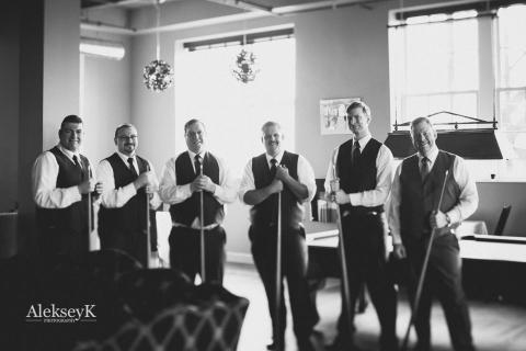 The Foundry Buffalo NY Wedding Photos | Groom and groomsmen