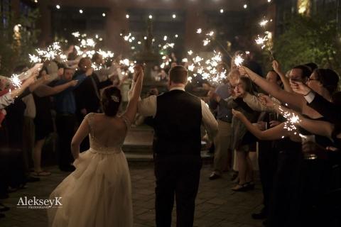 The Foundry Buffalo NY Wedding Photos | Sparklers