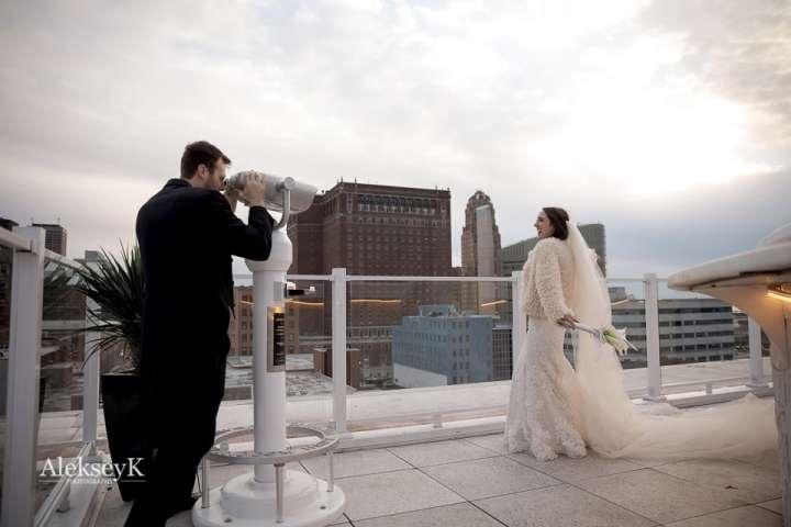 curtis hotel rooftop wedding photos