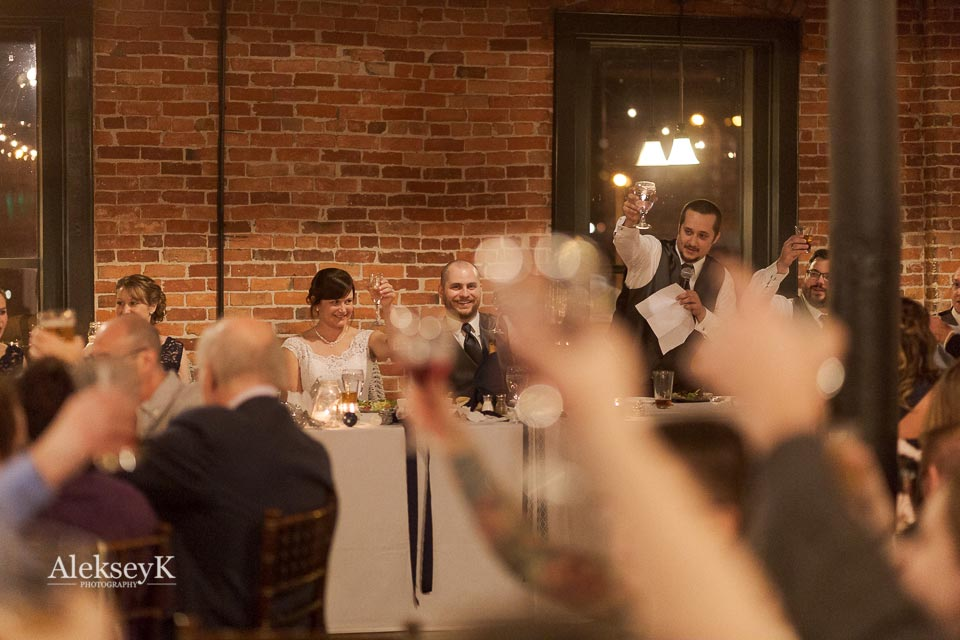 Pearl Street Grill & Brewery Wedding Photos | Speeches