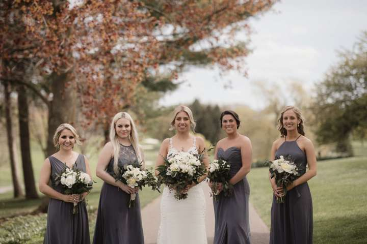Brookfield Country Club Wedding Photos | bride & Bridesmaids