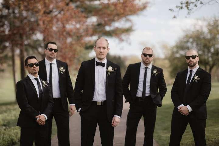 Brookfield Country Club Wedding Photos | Groom & Groomsmen