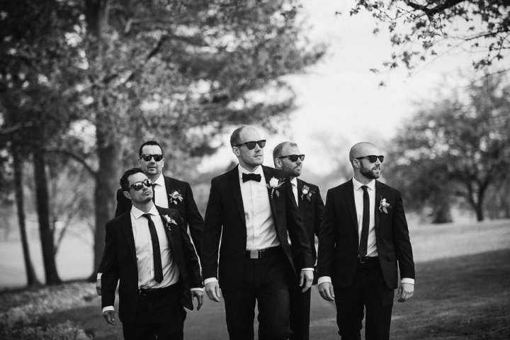 Brookfield Country Club Wedding Photos | Groom & Groomsmen