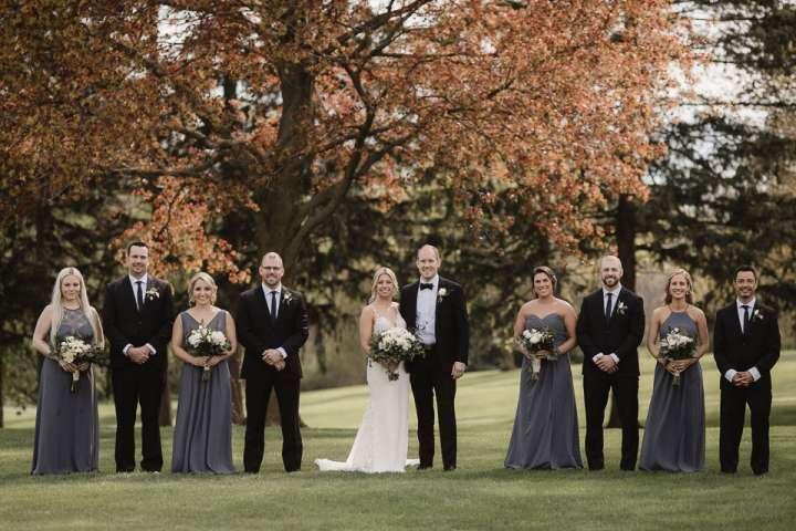 Brookfield Country Club Wedding Photos | Bridal Party Photo