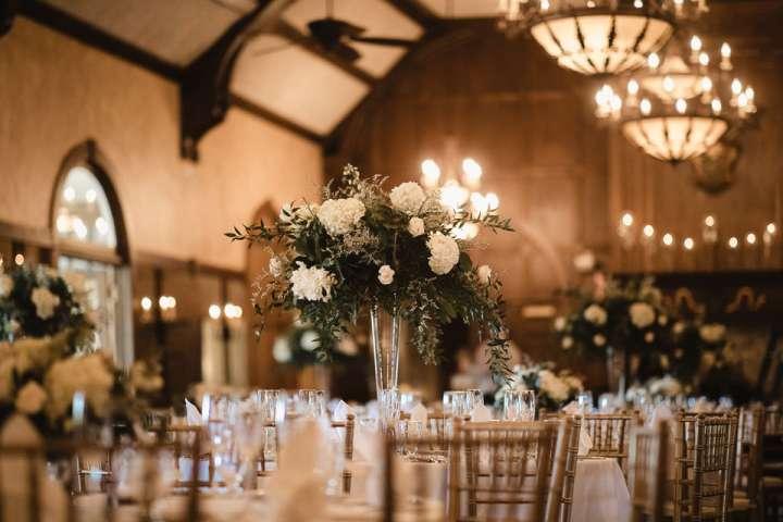 Brookfield Country Club Wedding Photos | Reception Details | centerpeace