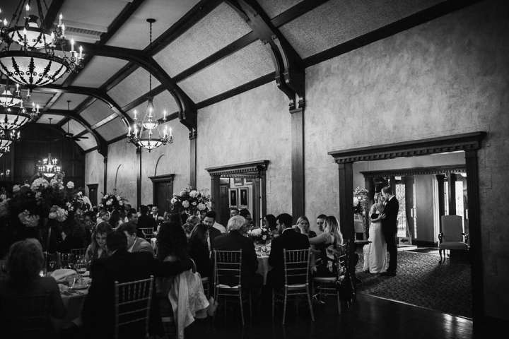 Brookfield Country Club Wedding Photos | Kiss before the introduction