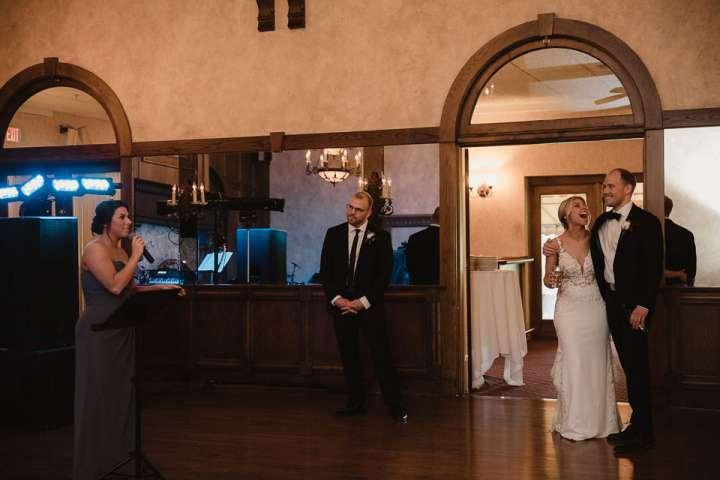 Brookfield Country Club Wedding Photos | Maid of Honor's speech