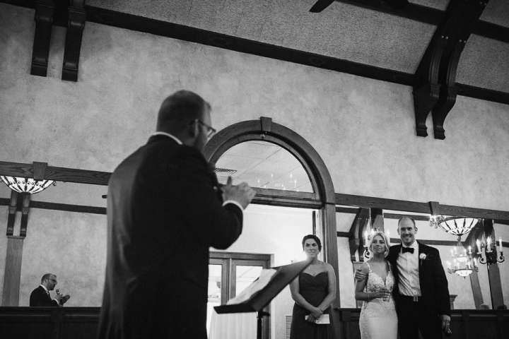 Brookfield Country Club Wedding Photos | Best man's speech