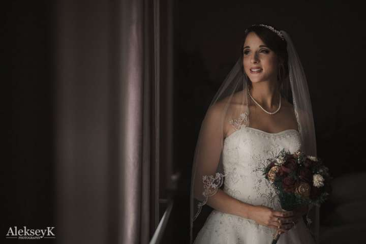 The Greenhouse Room in The Lafayette Hotel Wedding Photos | Portrait of the Bride