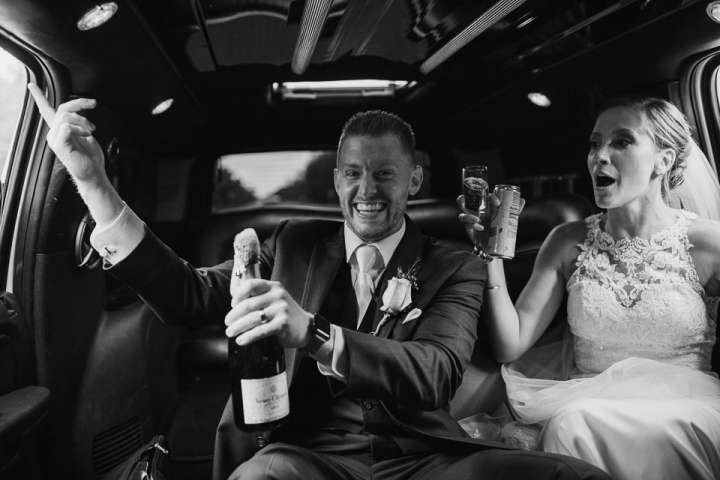 groom opening and spelling champagne