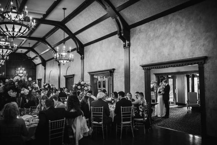 Portrait of the bride and groom Brookfield Country Club | Real Moments