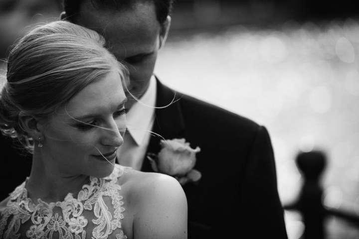 Portrait of the bride and groom Gateway Park Tonawanda NY