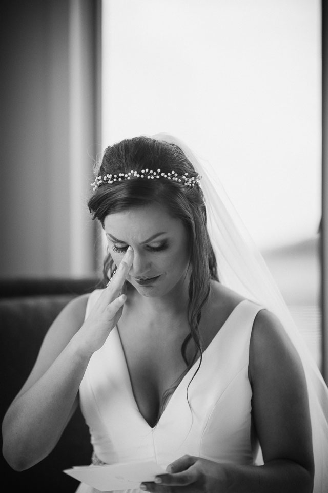 Bride gets emotional while reading letter from Groom