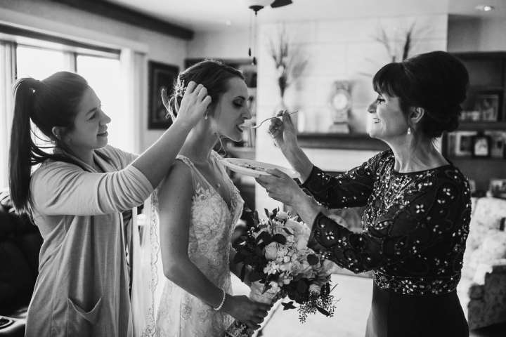 Final preparations | Mother of the Bride| Feeding the Bride