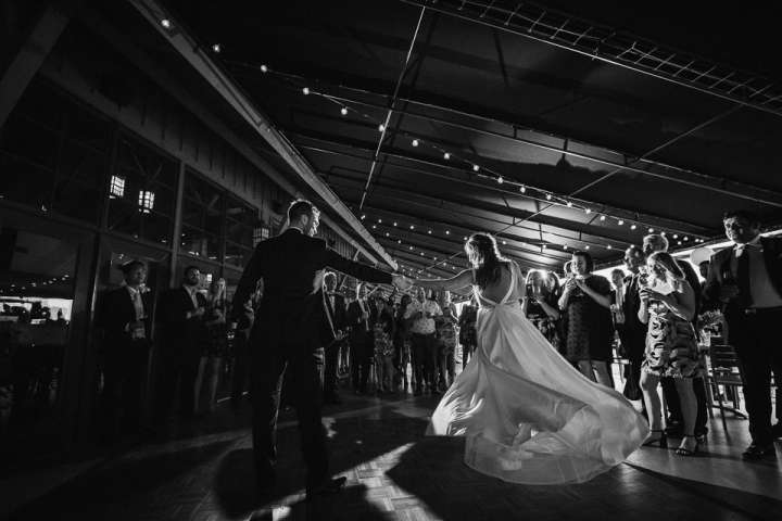 First Dance of Bride and Groom Glenora Inn and Winery