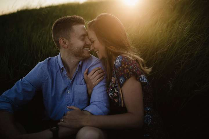 engagement session portrait of bride and groom at Tifft Nature Preserve Buffalo NY