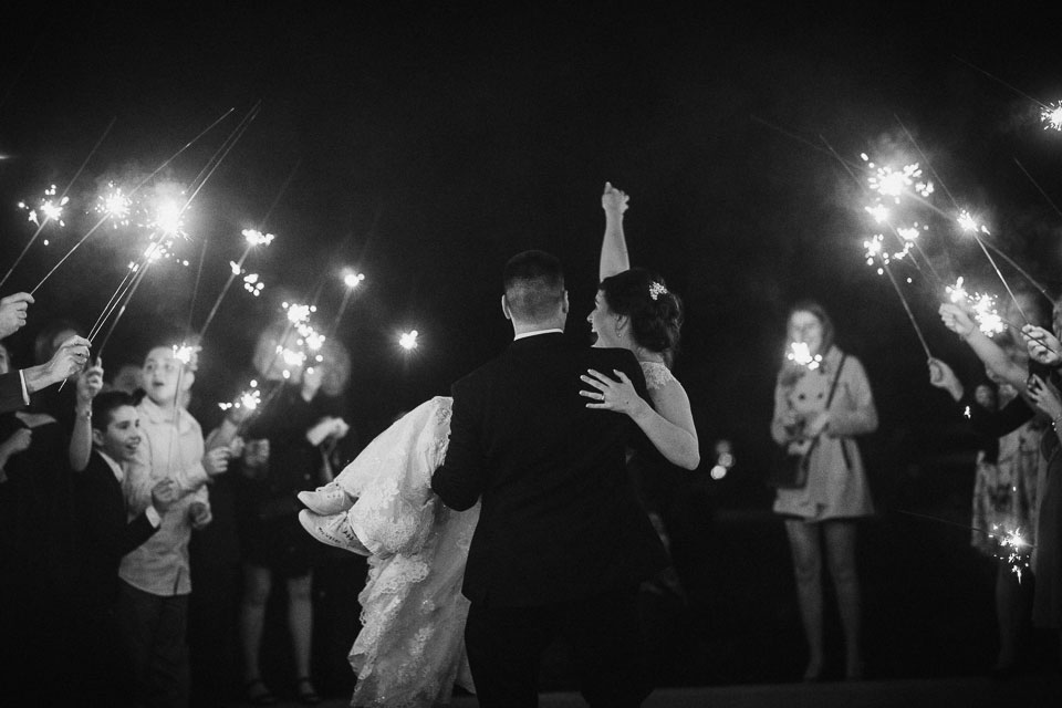Sparkler Exit at Avanti Mansion Buffalo NY