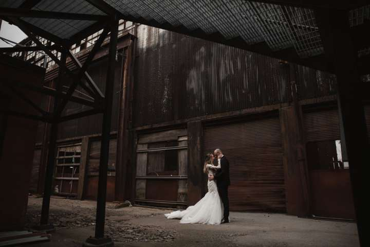 Portrait of the Bride and Groom | Foundry Suites Buffalo NY