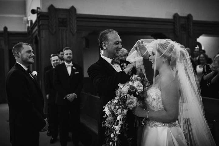 church ceremony | dad lifting the veil