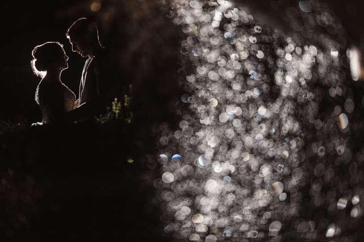 bride and Groom night photo